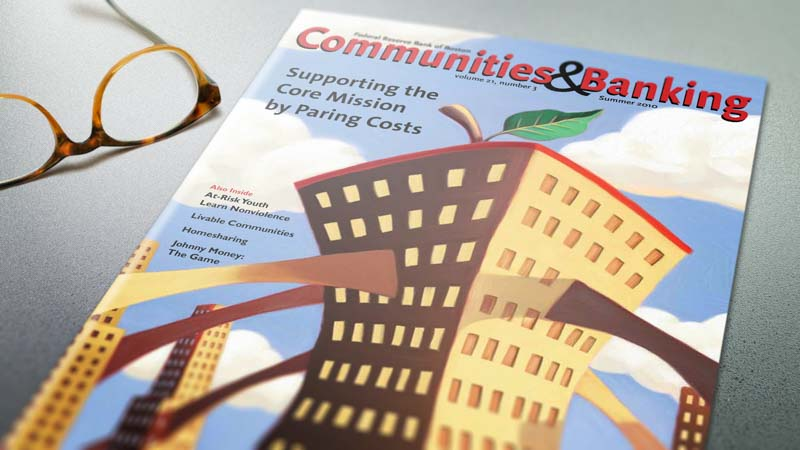 This is a photograph of the summer 2010 cover of Communities & Banking.