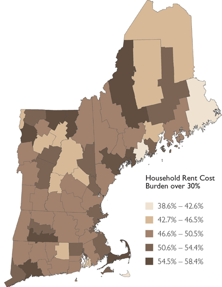 mapping new england: income distribution by county