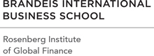 Logo: Brandeis International Business School | Rosenberg Institute of Global Finance